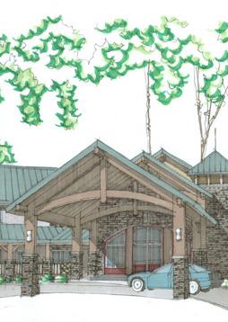 Sheridan Ridge Lodge Rendering