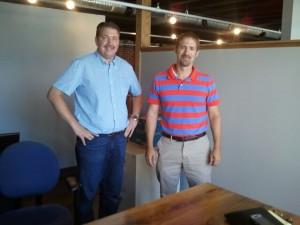 Bill Moore and Ryan Strite meet in Harrisonburg